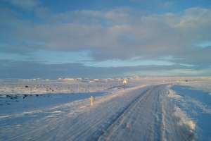 Snow covered roads